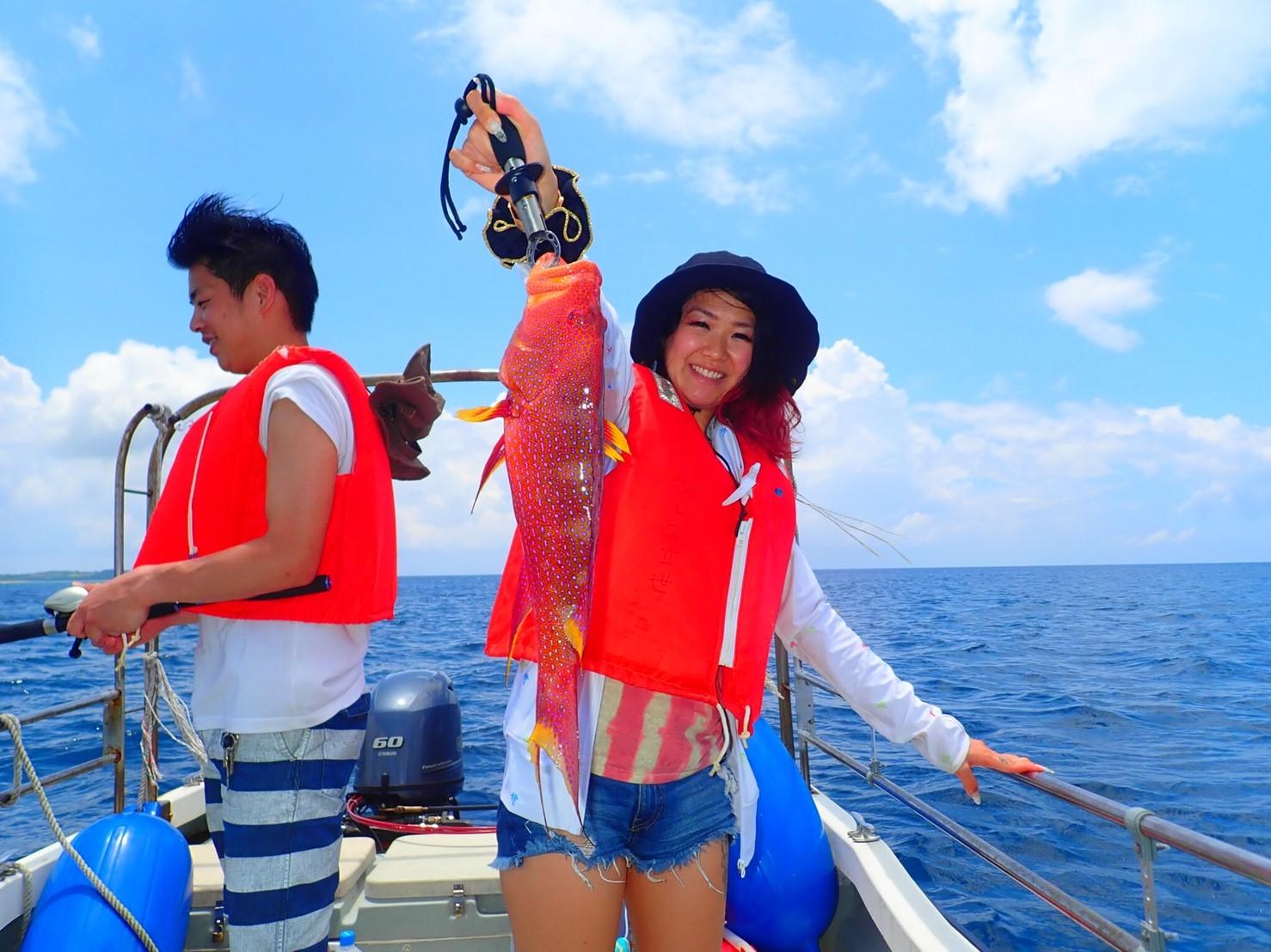 カップルで釣り体験