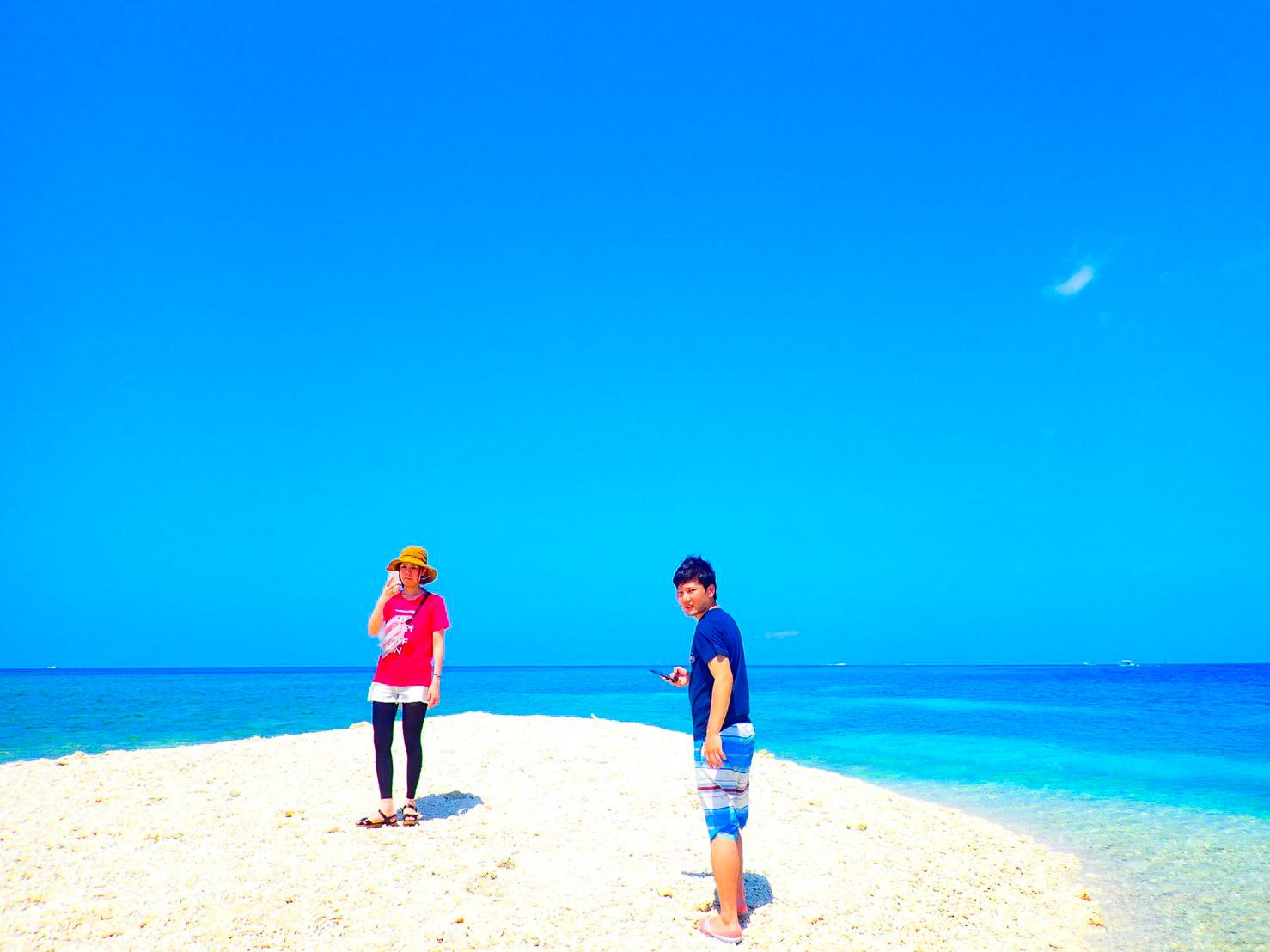 バラス島でシュノーケリング