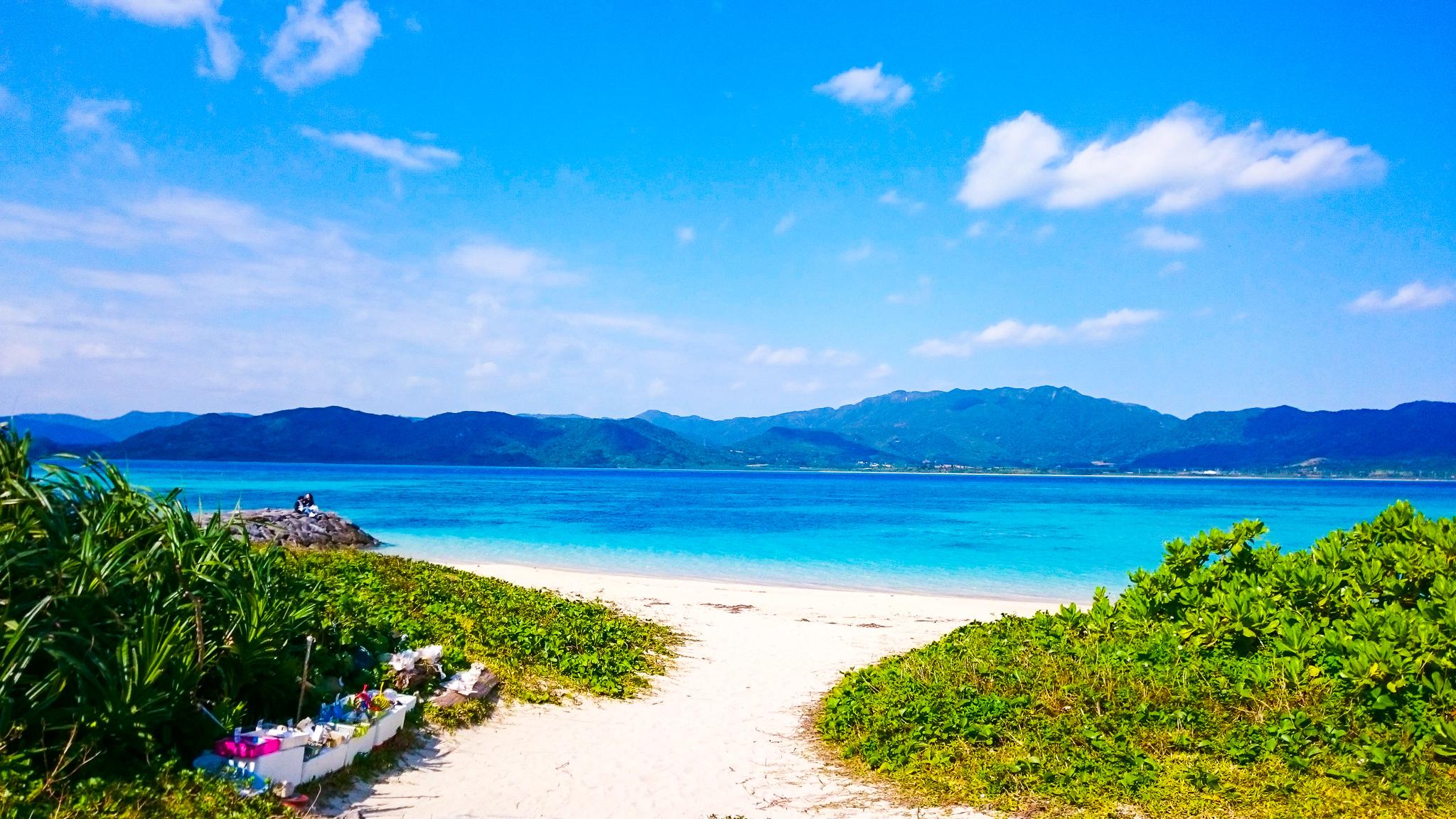 7月の小浜島ビーチ