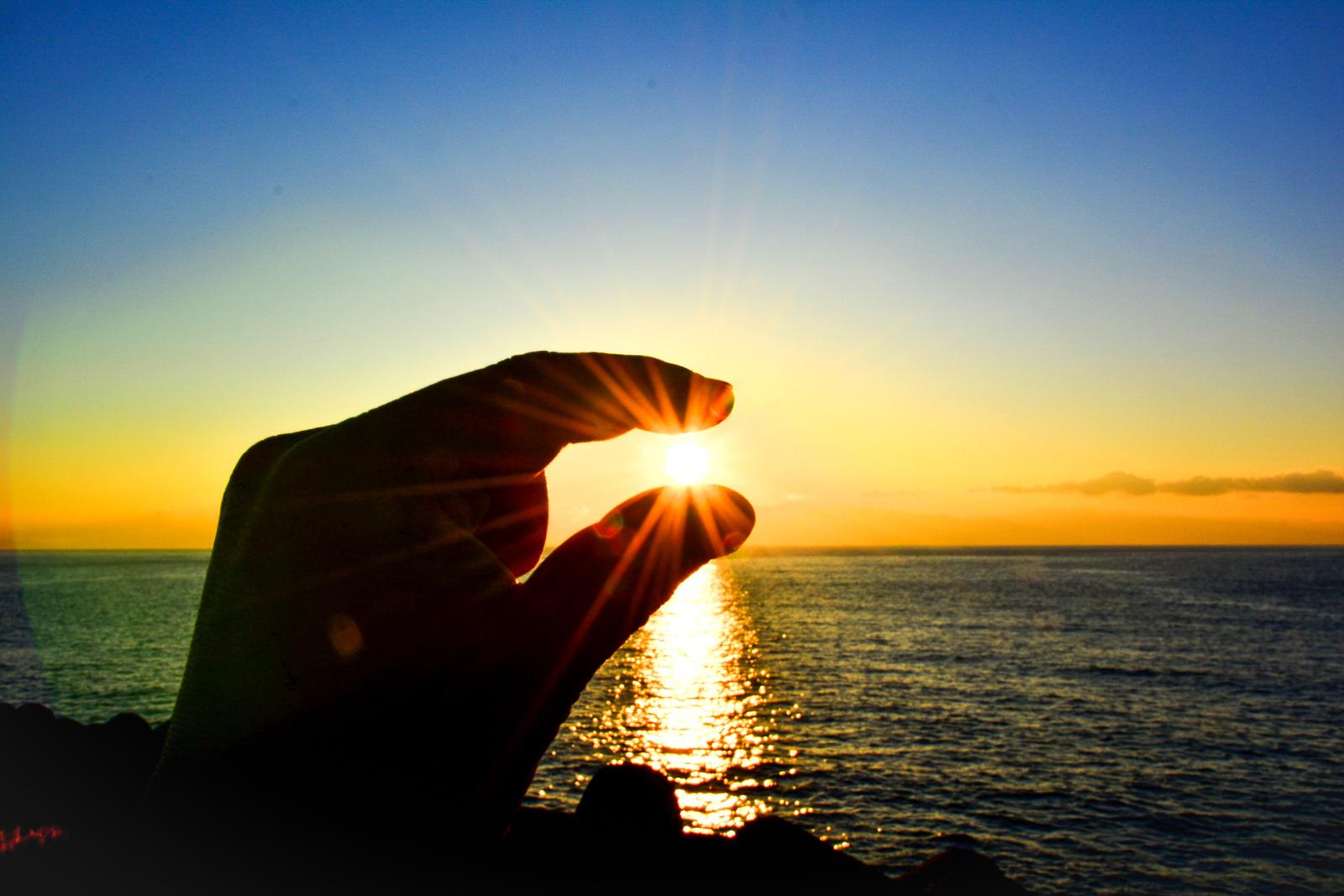 10月の小浜島の夕日