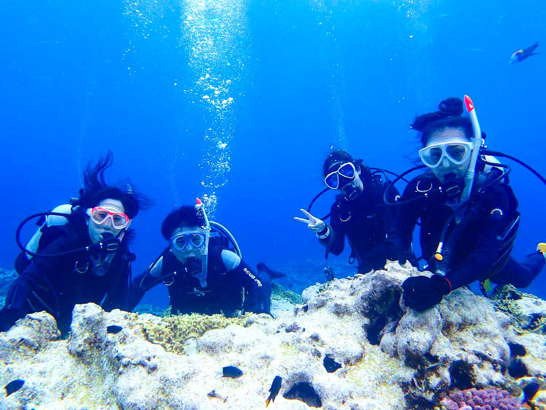 サークル旅行で体験ダイビング体験