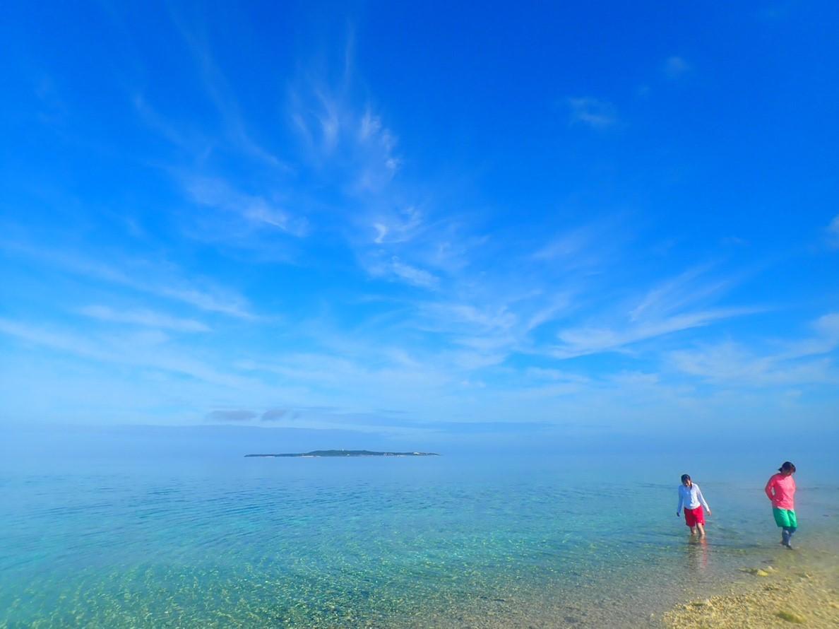 10月の小浜島の海