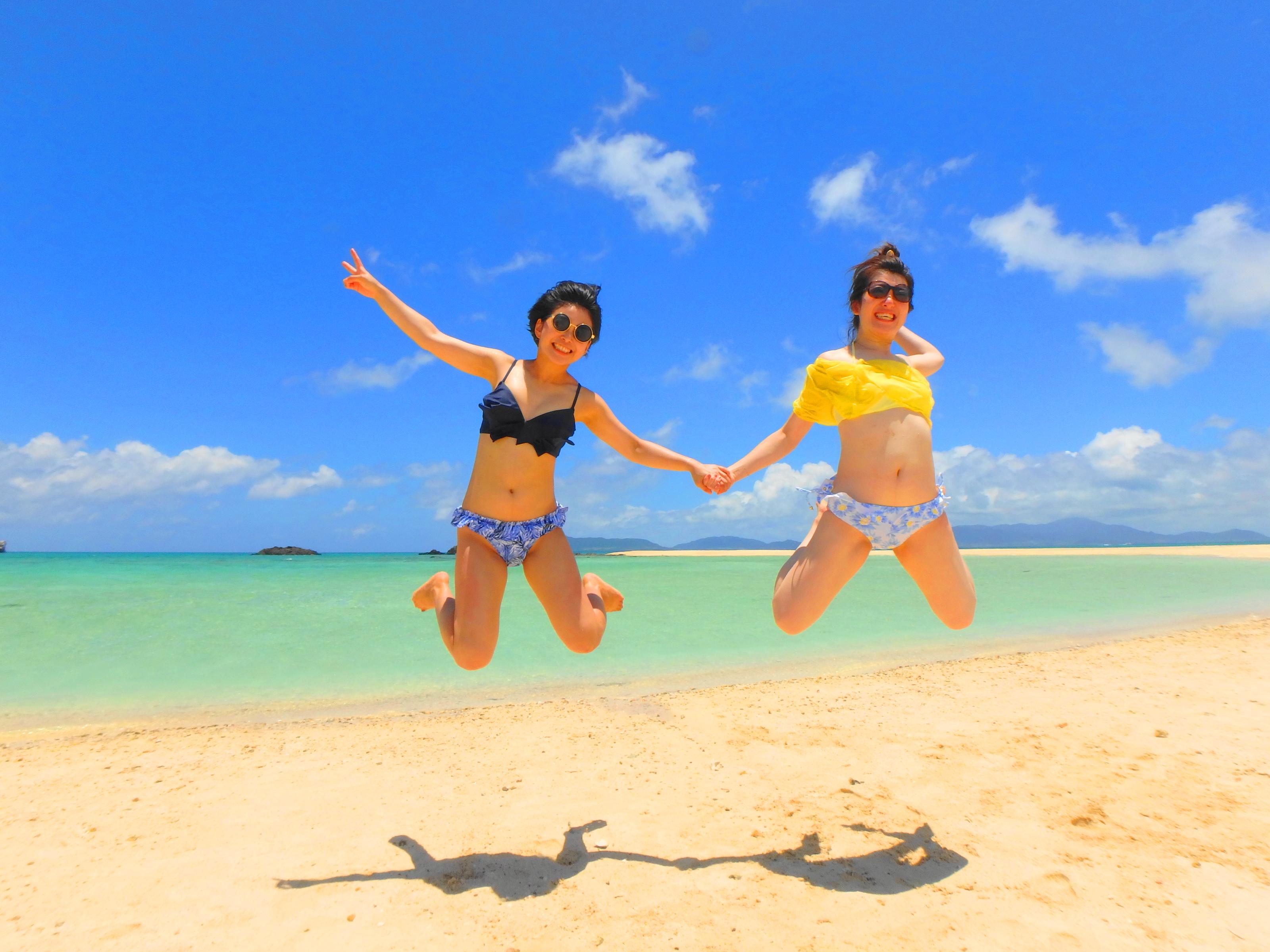 幻の島でジャンプ